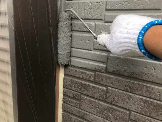 サイディング外壁 塗装作業①