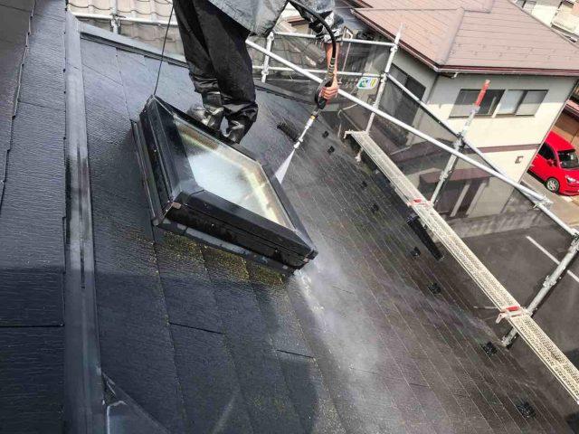 狭山市南入曽 屋根塗装・外壁塗装 高圧洗浄作業 (8)