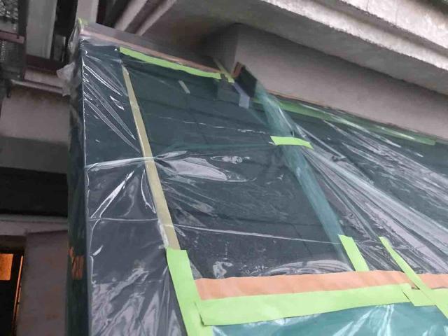変換 ~ 飯能市 屋根カバー 外壁塗装 養生作業 (1)