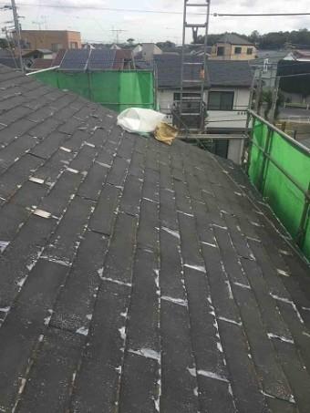 東京都東村山市 屋根カバー工事(セネター)、外壁塗装工事 屋根洗浄後