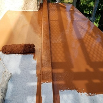 東京都東大和市 屋根葺き替え、外壁塗装工事 下屋根塗装工事3