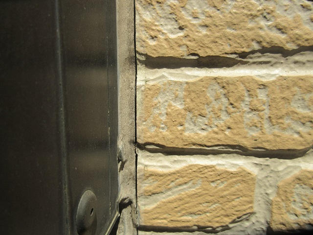 所沢市 東所沢 現地調査 外壁の苔汚れを確認3