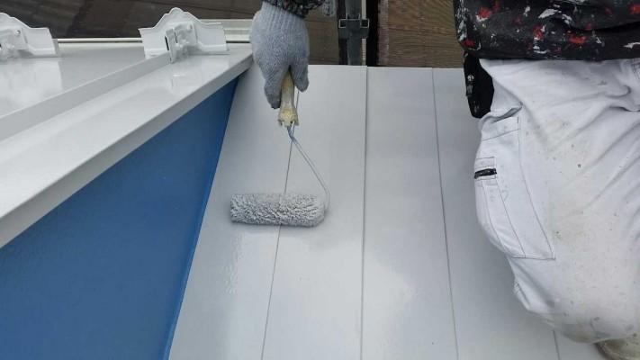所沢市若狭 フッ素樹脂塗料 屋根塗装作業 (3)