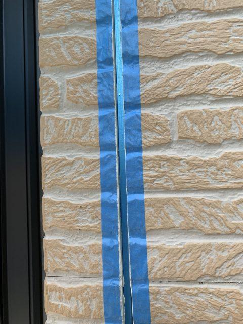所沢市東所沢 屋根カバー、外壁塗装 軒下、縦目地のシーリング工事 (2)