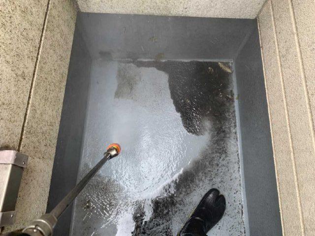 所沢市 北秋津 屋根カバー、外壁塗装工事 高圧洗浄作業 (5)