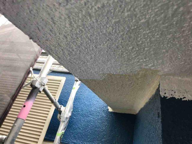 所沢市 小手指元町 屋根カバー 外壁塗装 破風、軒天 中塗り上塗り (10)