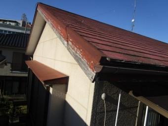 所沢市山口 現地調査 破風の劣化