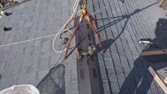 所沢市北野南 屋根カバー、外壁塗装工事 換気棟