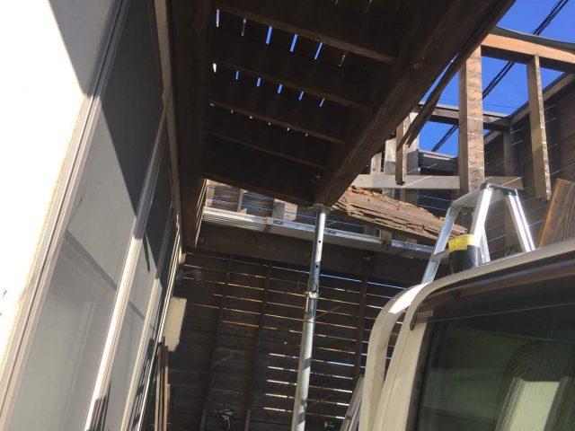 所沢市若狭 屋根・外壁塗装 ベランダ解体工事 (1)