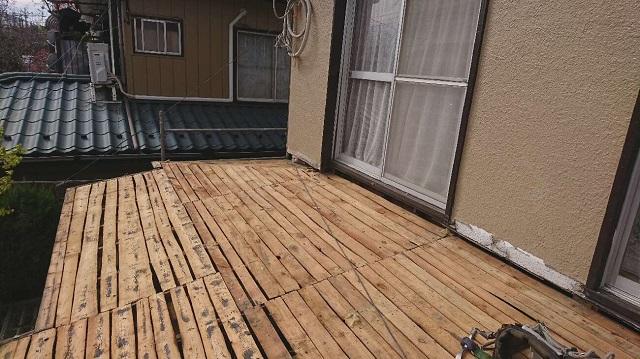 かわらU 撤去作業 野地板
