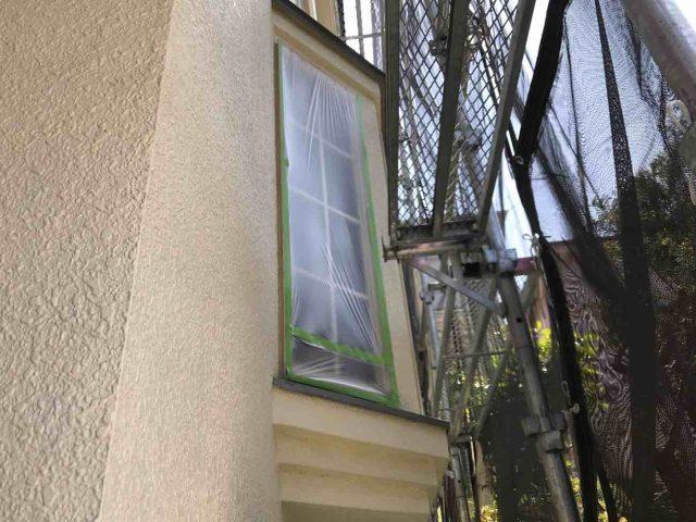 所沢市 小手指元町 屋根カバー 外壁塗装 下塗り 、養生作業 (8)