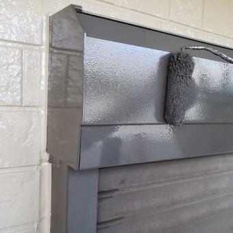 所沢市和ケ原 屋根カバー、天窓撤去、外壁塗装工事 付帯部塗装 シャッターボックス