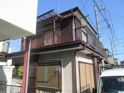 狭山市笹井 屋根カバー、葺き替え工事 外壁塗装 施工前