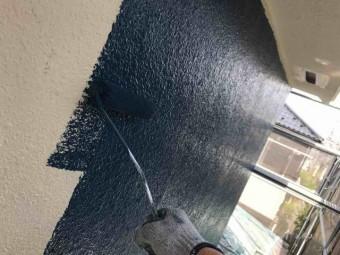 所沢市 小手指元町 屋根カバー 外壁塗装 中塗り 鉄部の錆止め (12)