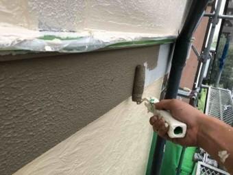 所沢市 東所沢 外壁塗装 帯板 塗装 (2)