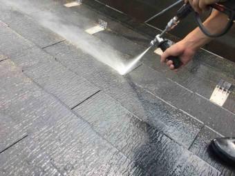 入間市 屋根・外壁塗装 高圧洗浄作業 (12)