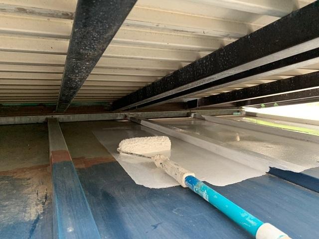 東京都東大和市 屋根葺き替え、外壁塗装工事 下屋根塗装工事2