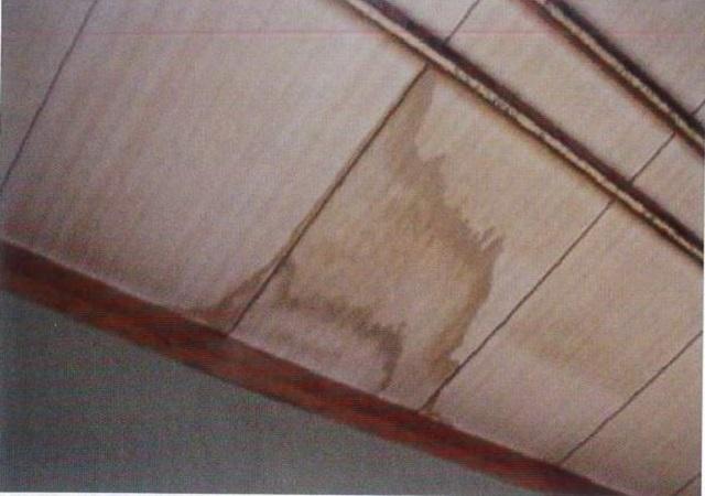 天井材の染み