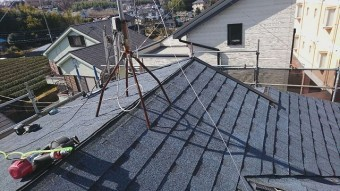 所沢市北野南 屋根カバー、外壁塗装工事 アスファルトシングル オークリッジスーパー3
