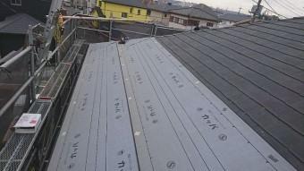 狭山市広瀬 屋根カバー工事 外壁塗装 防水ルーフィングシート施工
