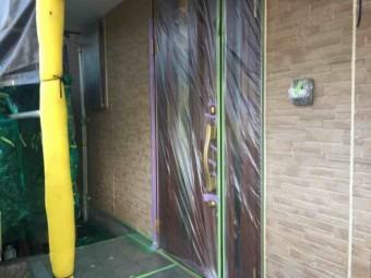 入間市 外壁塗装 養生作業 (7)