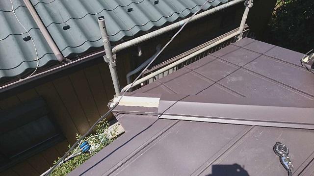 所沢市中新井 セキスイ瓦U屋根 葺き替え 立平葺き屋根 スタンビー2