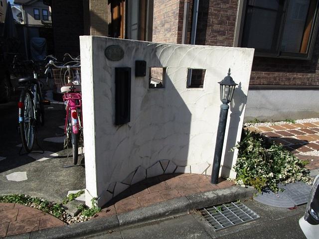 狭山市広瀬 屋根・外壁塗装 ベランダ防水 塀塗装前