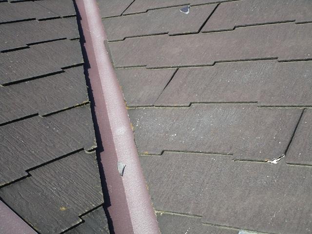 狭山市広瀬 屋根・外壁塗装 ベランダ防水 現地調査 スレート屋根の割れ