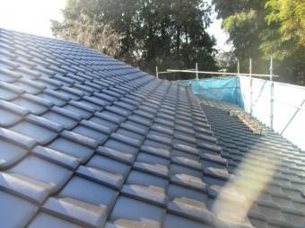 入間市宮寺 和型の瓦屋根から新東「極」へ瓦葺き替え工事 平板