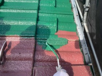 狭山市広瀬台 屋根・外壁塗装 屋根塗装作業 (2)