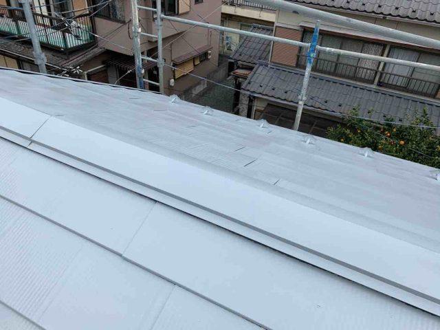 所沢市 上新井 屋根塗装 フッ素樹脂塗料 (4)