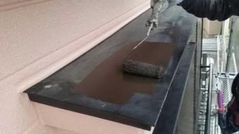 狭山市広瀬台 屋根・外壁塗装 付帯部 庇塗装