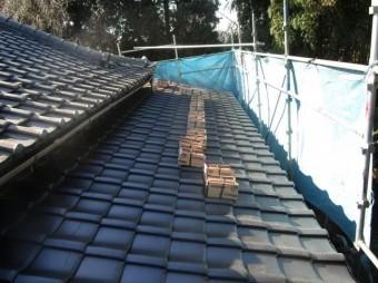 和型瓦屋根葺き替え 瓦葺き