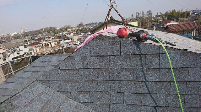 所沢市北野南 屋根カバー、外壁塗装工事 アスファルトシングル オークリッジスーパー2