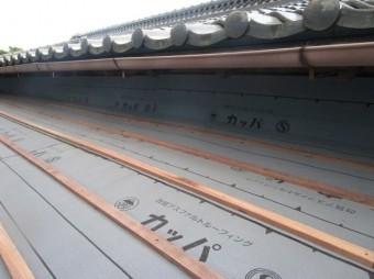 和型瓦屋根 葺き替え 横桟