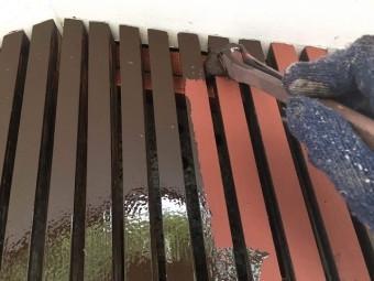 所沢市若狭 屋根葺き替え・カバー工事 付帯部塗装 面格子塗装作業