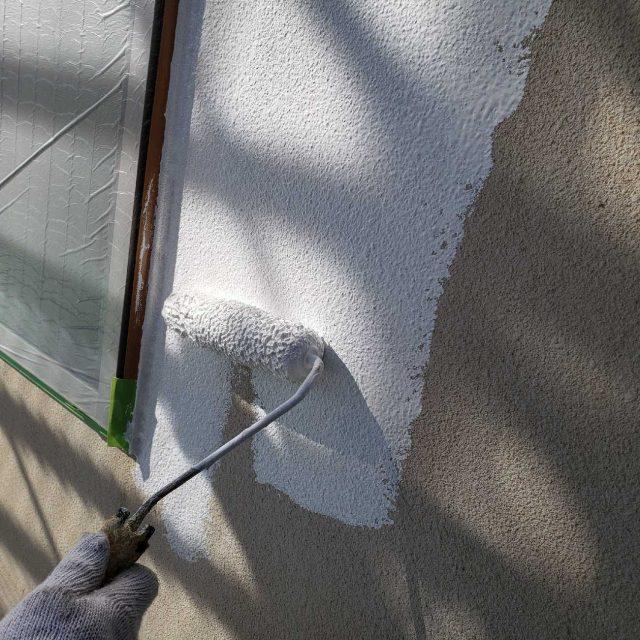 所沢市若狭 フッ素樹脂塗料 外壁塗装作業 (10)