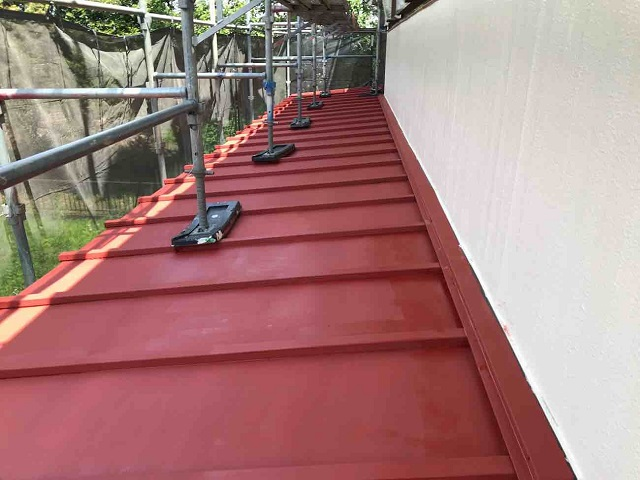 所沢市北中 下屋根塗装3