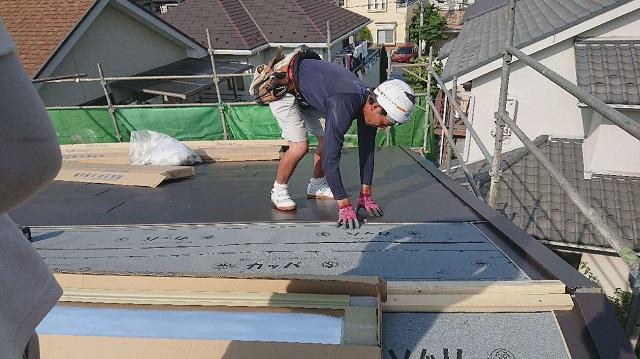 所沢市若狭 屋根葺き替え・カバー工事 スーパーガルベスト施工4