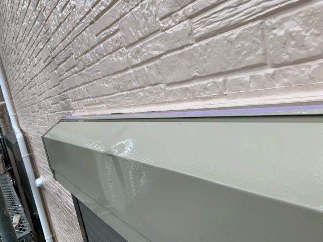 入間市 屋根・外壁塗装 付帯部 シャッターボックス塗装 (2)