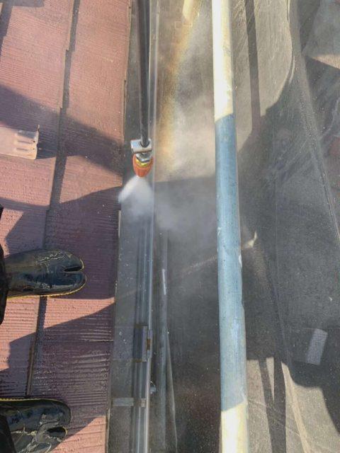 所沢市山口 バイオ高圧洗浄 屋根