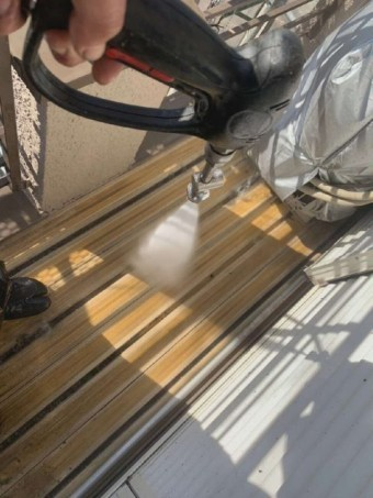 所沢市山口 バイオ高圧洗浄 ベランダ