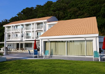 潮風に強い塗料を使用した建物